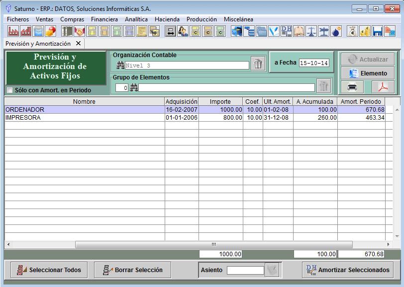 Software ERP Saturno Activos Fijos