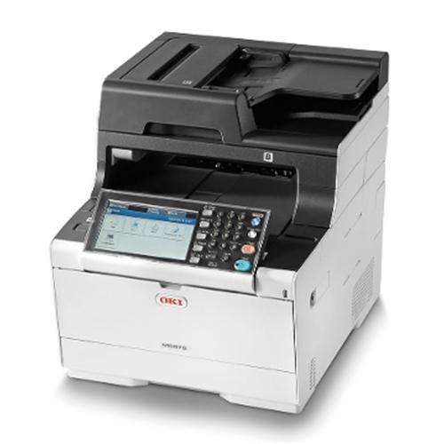 """Es5473dn MFP Equipo multifuncion A4 COLOR (4 en 1) Impresora, Fax, Escaner color y copiadora. 26ppm, 30ppm MONOCROMO, USB2.0, 10/100/1000 Ethernet, Pantalla Táctil LCD 7"""" OKI"""